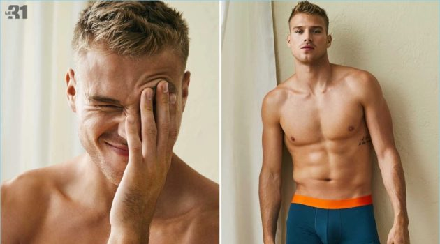 Le Weekend à L'Année: Matthew Noszka Models Simons' New Season of Underwear