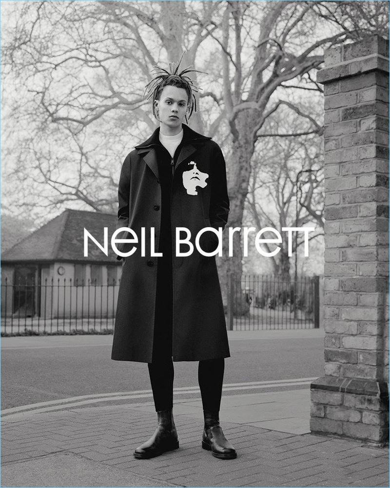 William Allen stars in Neil Barrett's fall-winter 2017 campaign.