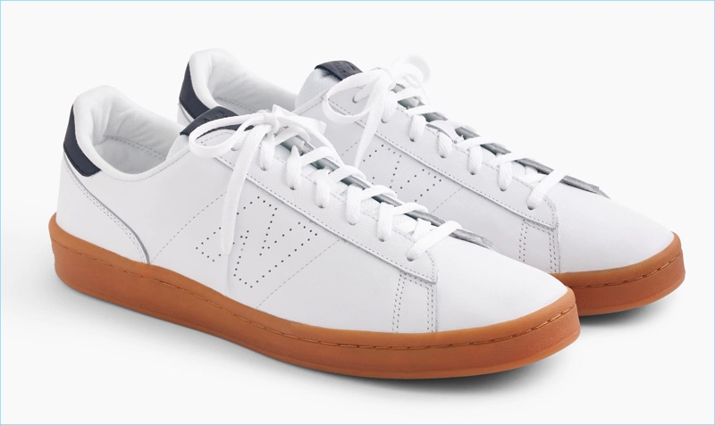 New Balance for J.Crew 791 White Leather Sneakers