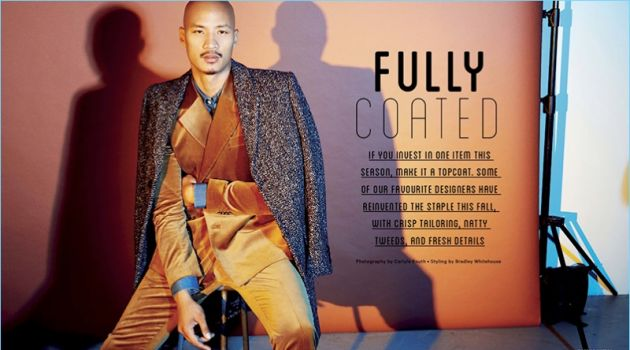 Fully Coated: Paolo Roldan is Dashing in Fall Fashions for Sharp