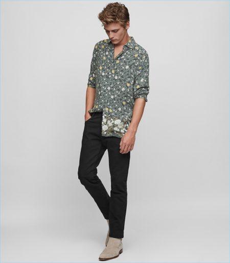 Reiss Floral Print Shirt