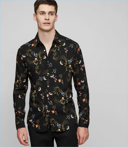 Reiss Floral Printed Shirt
