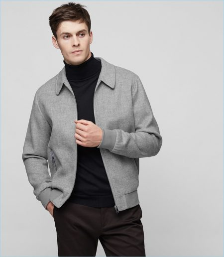 Reiss Grey Collared Jacket