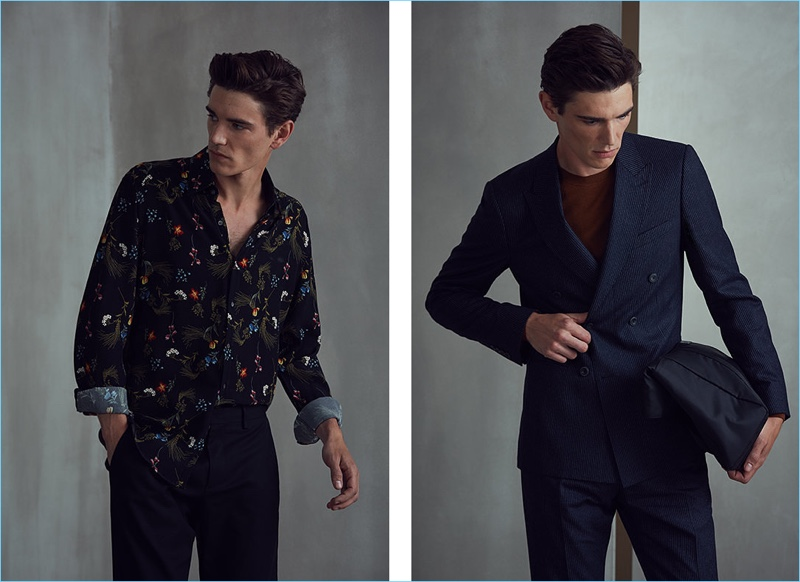 Embrace on-trend styles with the printed shirt or go sophisticated in a classic suit by Reiss.