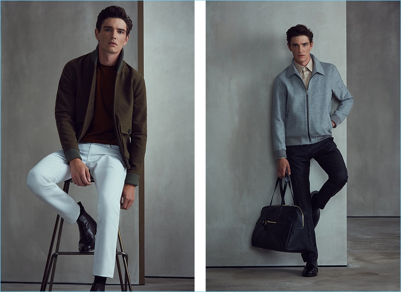 Transition into fall with classic lightweight jackets from Reiss.