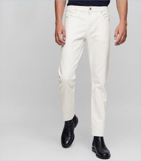 Reiss Slim-Fit Cream White Jeans