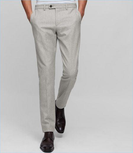 Reiss Wool Blend Trousers