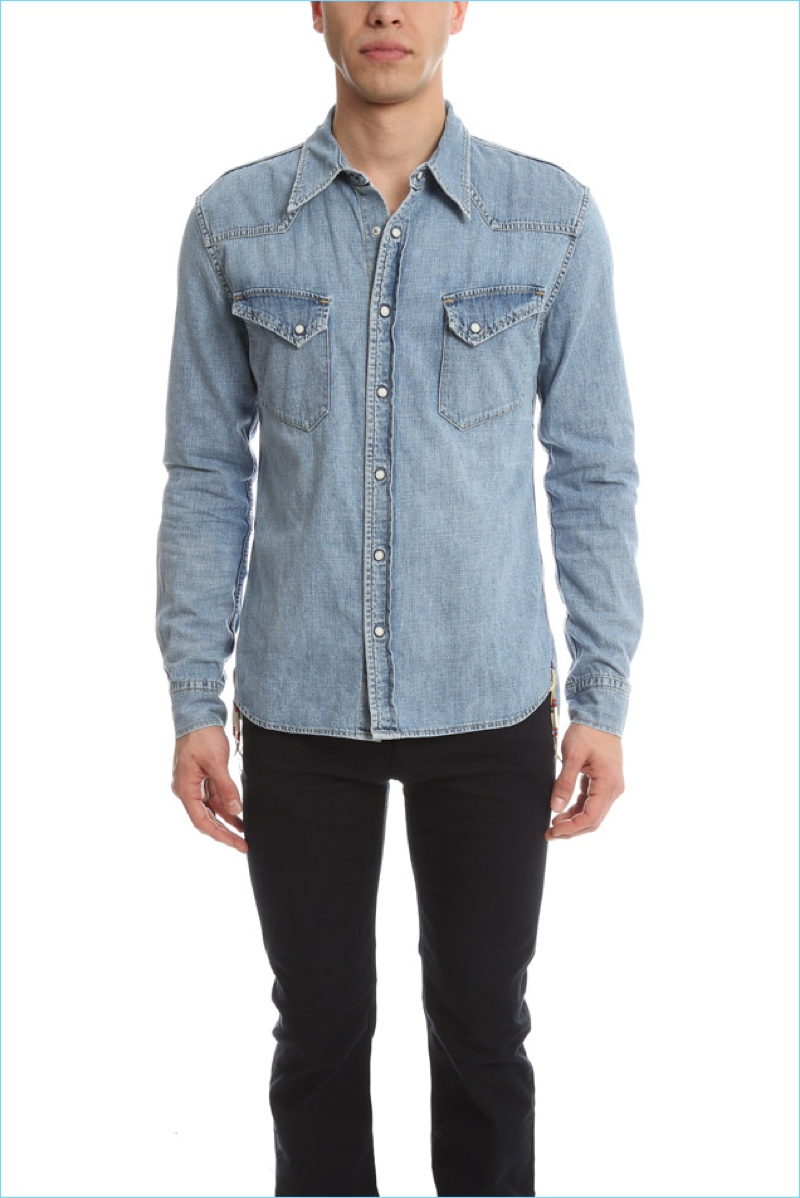Remi Relief Denim Western Shirt