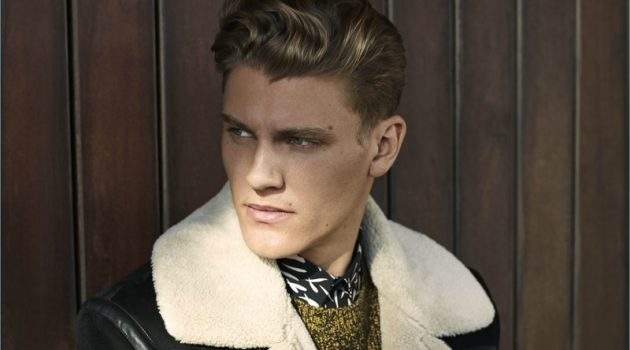 Mikkel Jensen stars in River Island's fall-winter 2017 campaign.