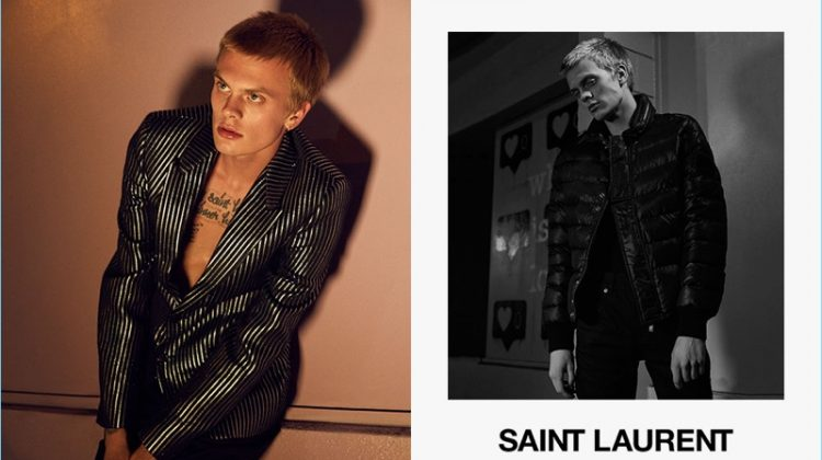 Forward highlights fall-winter 2017 fashions by Saint Laurent.