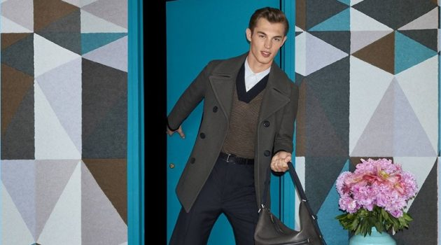Salvatore Ferragamo enlists Kit Butler as the star of its fall-winter 2017 campaign.