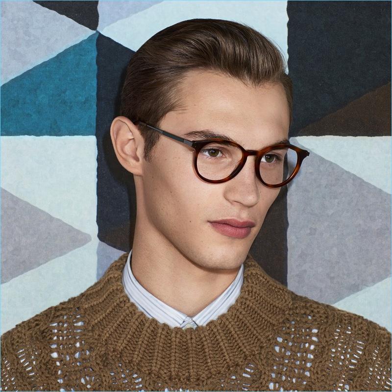 British model Kit Butler fronts Salvatore Ferragamo's fall-winter 2017 campaign.