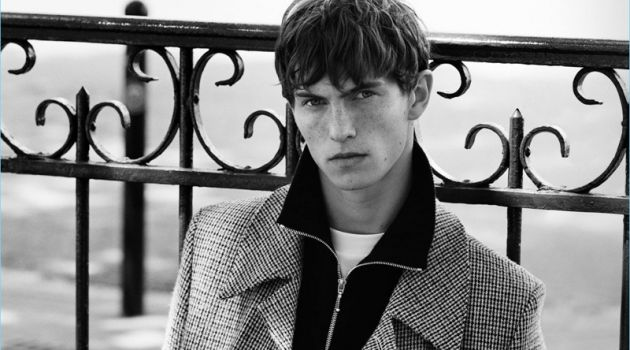 Luc Defont-Saviard fronts Sandro's fall-winter 2017 campaign.