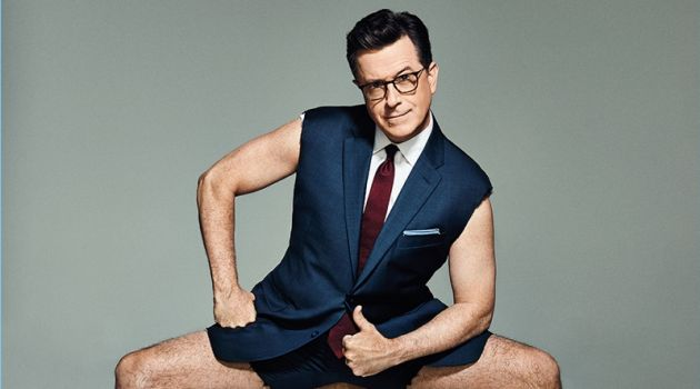 Miller Mobley photographs Stephen Colbert for InStyle magazine.