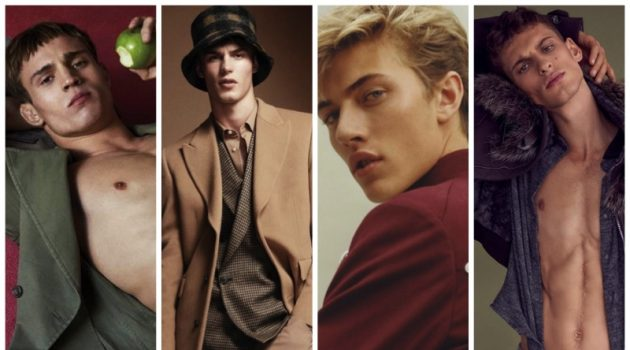 Top Models Julian Schneyder, Kit Butler, Lucky Blue Smith, and David Trulik