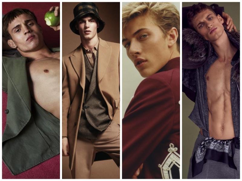 Top Models Julian Schneyder, Kit Butler, Lucky Blue Smith, and David Trulik