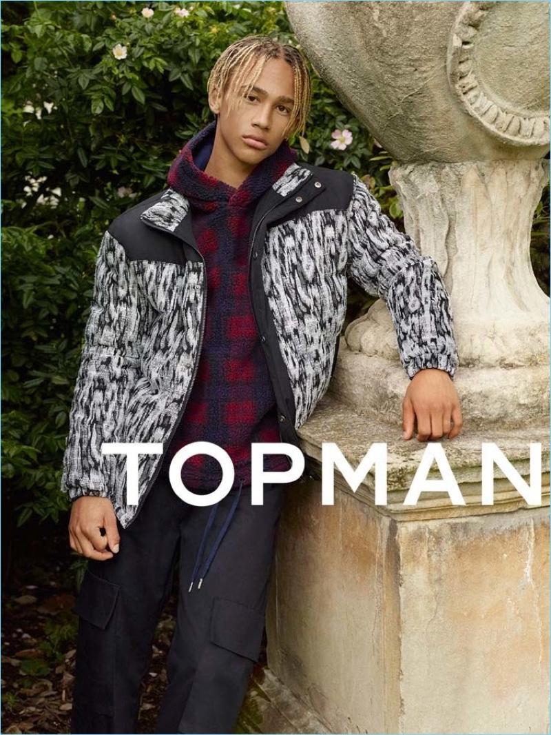 Model Nino North stars in Topman's fall-winter 2017 campaign.