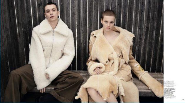 Modern Sensibility: Yuri Pleksun Couples Up with Lina Hoss for T Singapore