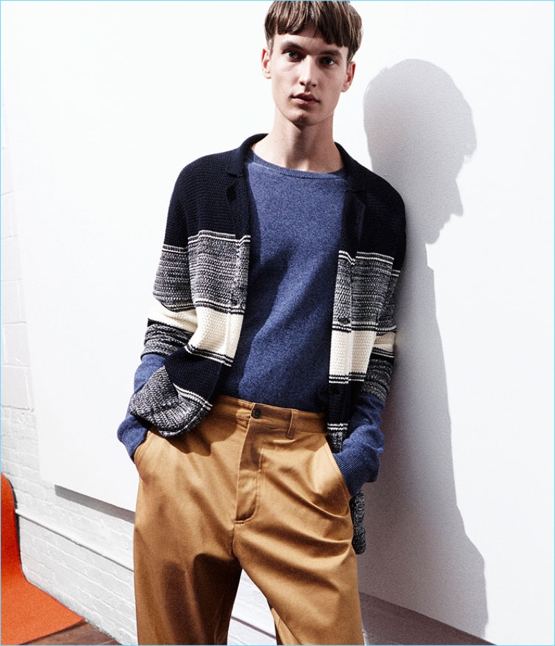 Smart style reigns with Zara offering essentials such as the cardigan sweater.