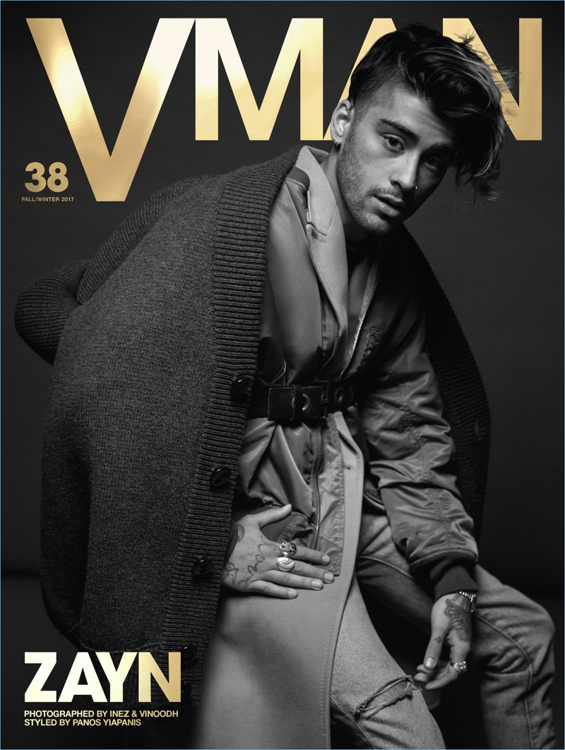 Zayn Malik covers the fall-winter 2017 issue of VMAN.