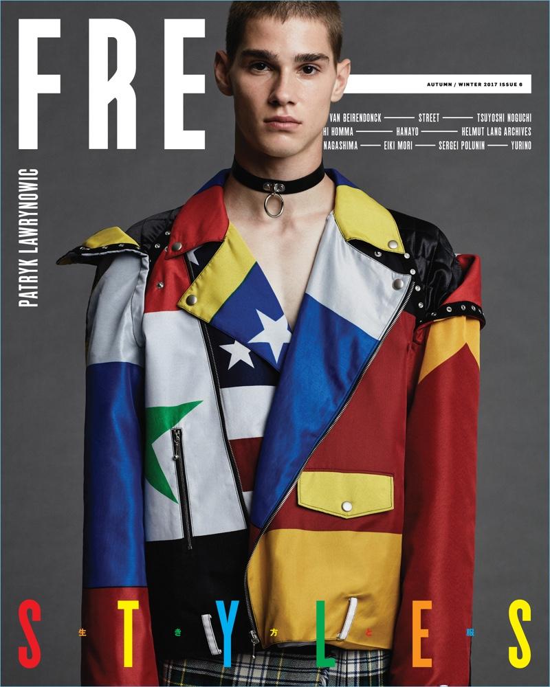 Patryk Lawrynowic covers Free magazine.