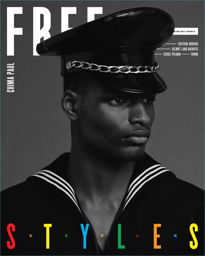 Chima Paul covers Free magazine.