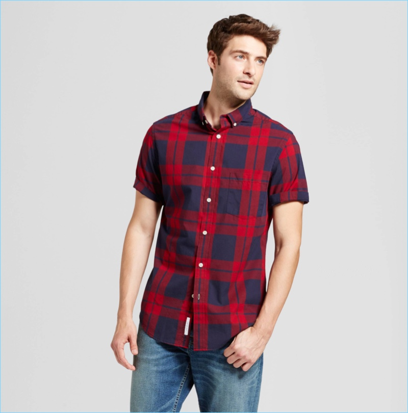 Goodfellow Co. Men's Slim Fit Short Sleeve Shirt