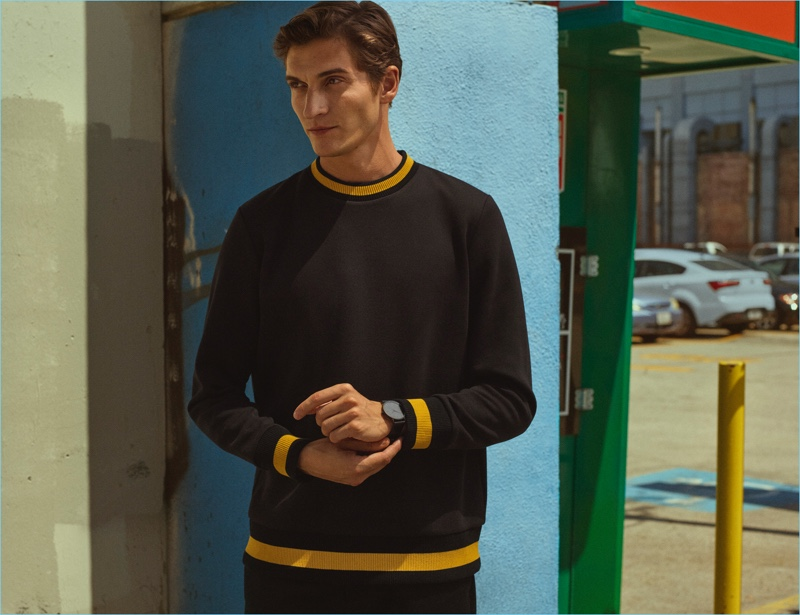 Model Matvey Lykov fronts H&M's fall 2017 campaign.