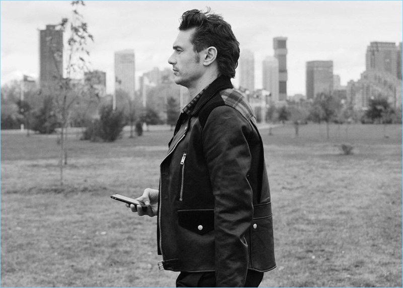 Behind the Scenes: James Franco shoots his Coach fragrance campaign.