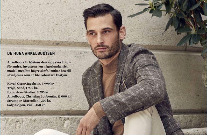 Julien Hedquist Models 10 Smart Fall Looks for King Magazine