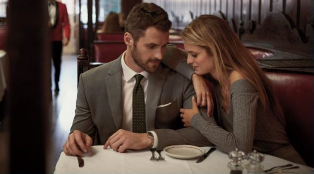 Couple Kevin Love and Kate Bock front Banana Republic's fall-winter 2017 campaign.