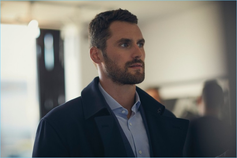 Cleveland Cavaliers player Kevin Love stars in Banana Republic's fall-winter 2017 campaign.