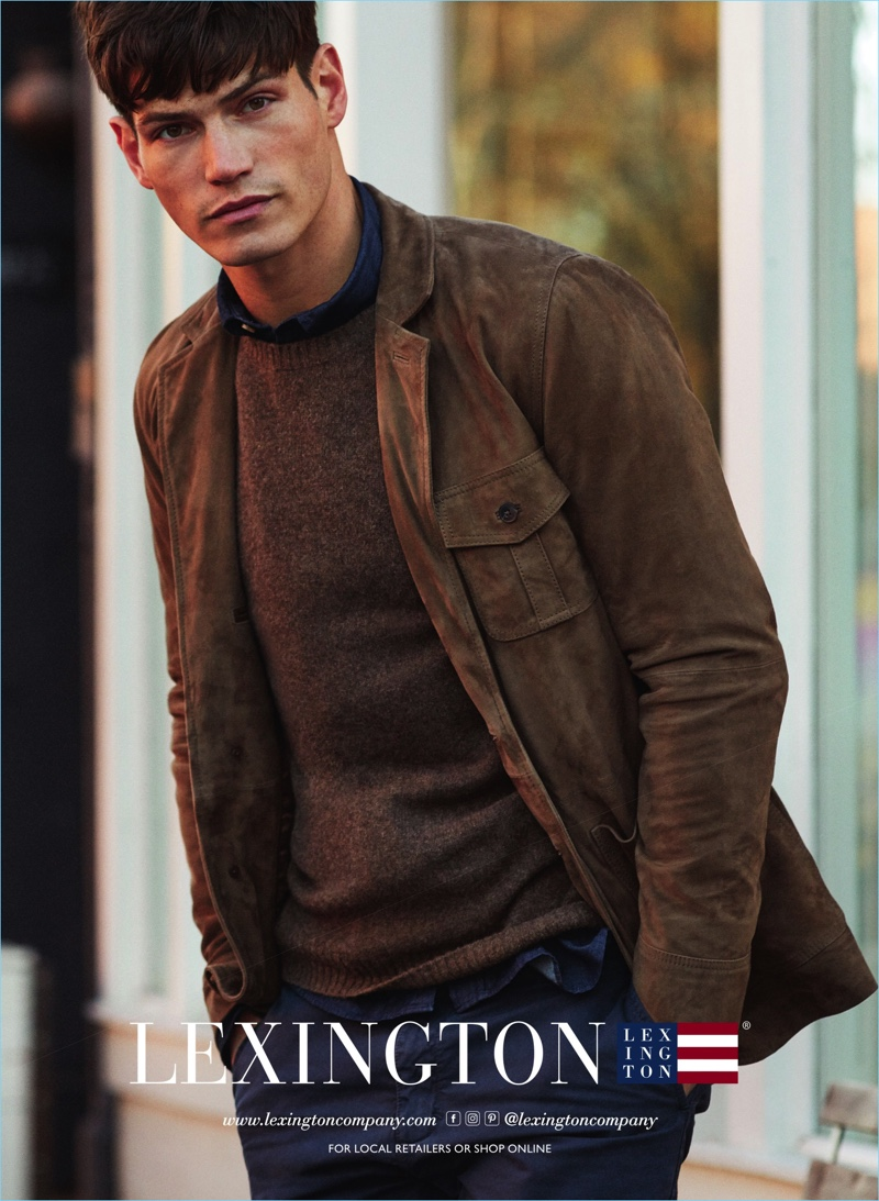 Sam Way steps out as the star of Lexington's fall-winter 2017 campaign.
