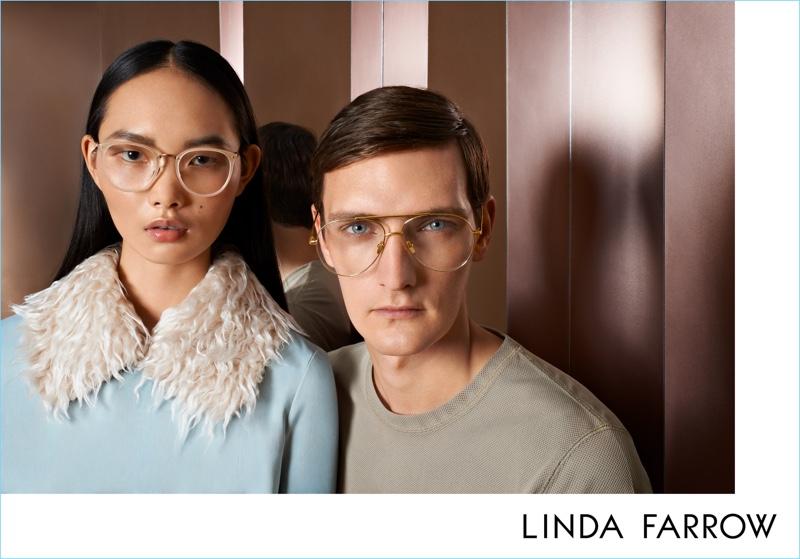 999f132da83 Ling Ling and Yannick Abrath star in Linda Farrow s fall-winter 2017  campaign.