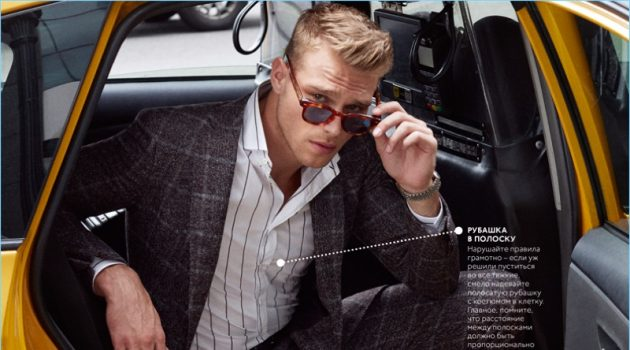 Matthew Noszka Suits Up for GQ Style Russia