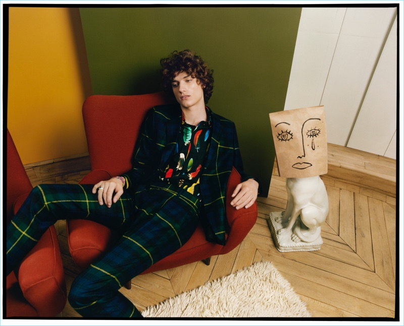 Serge Rigvava stars in Paul Smith's fall-winter 2017 campaign.
