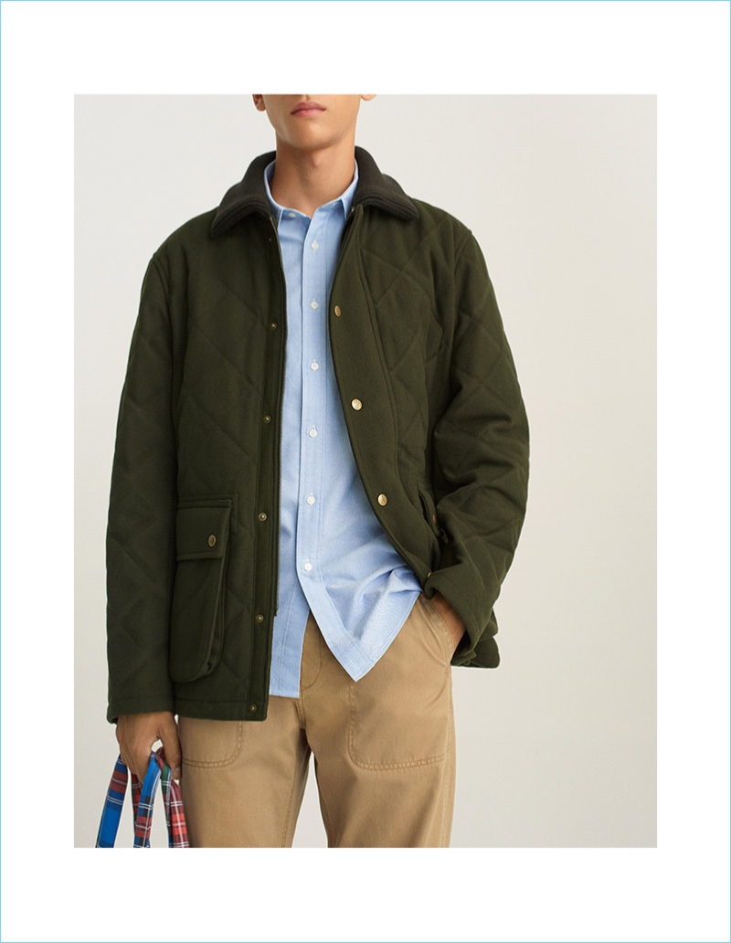 JWA Wool Blended Quilted Jacket $99.90