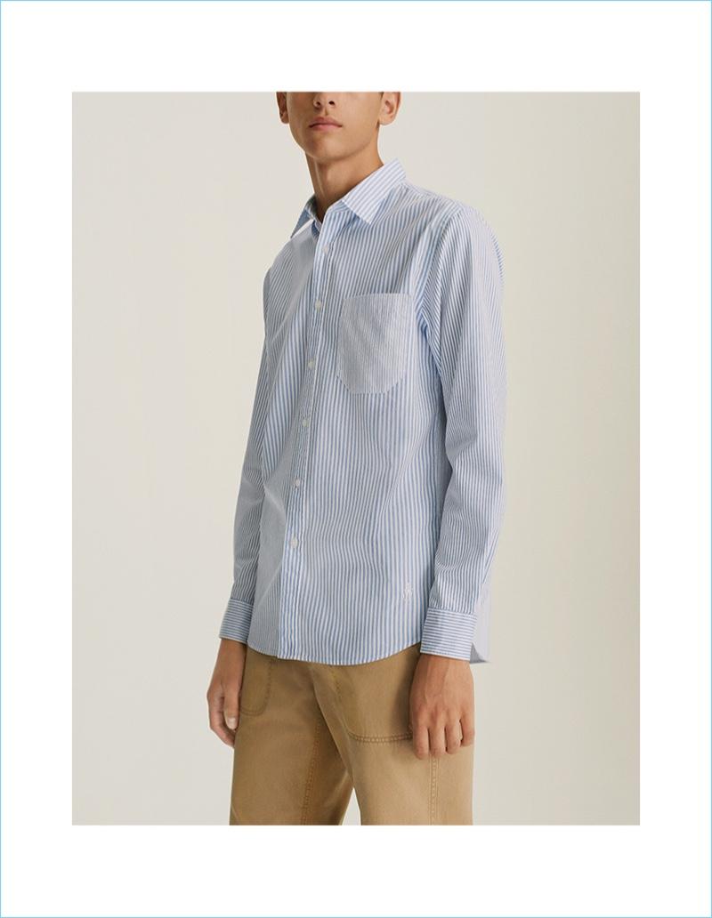 JWA Extra Fine Cotton Broadcloth Long-Sleeve Shirt