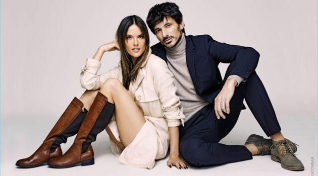 Andres Velencoso & Alessandra Ambrosio Reunite with Xti for Fall '17 Campaign