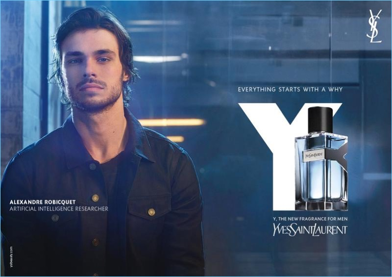 Alexandre Robicquet stars in Yves Saint Laurent's Y fragrance campaign.