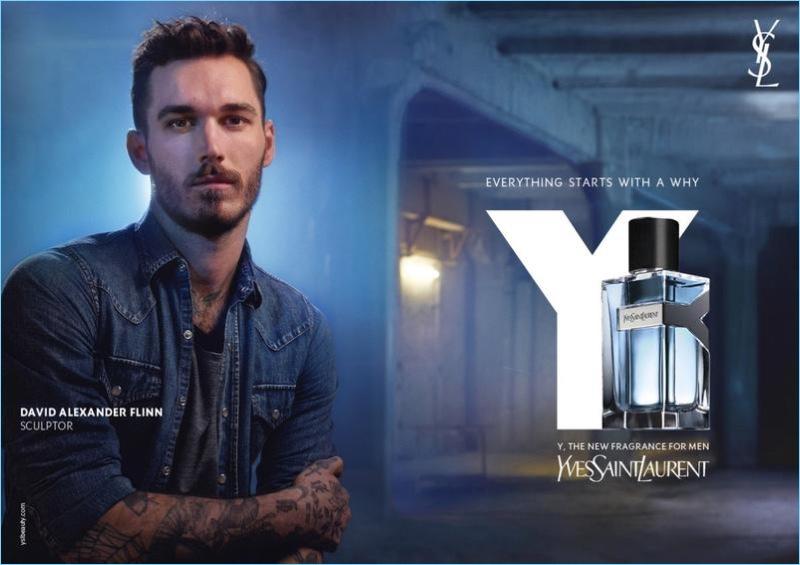 David Alexander Flinn appears in Yves Saint Laurent's Y fragrance campaign.