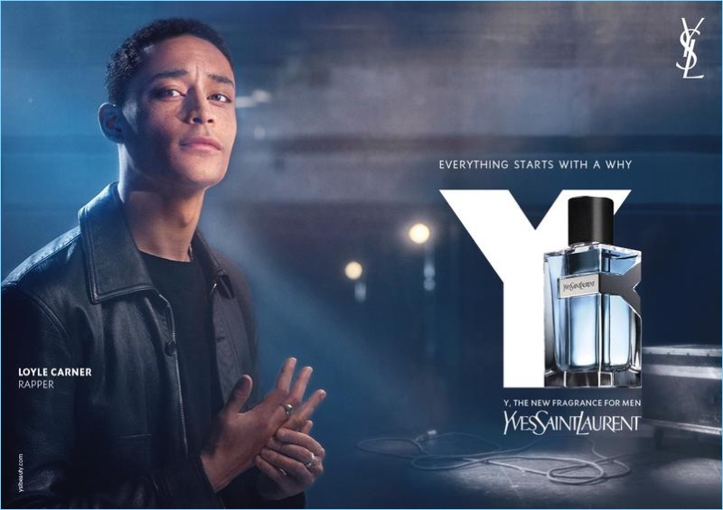 Loyle Carner fronts Yves Saint Laurent's Y fragrance campaign.