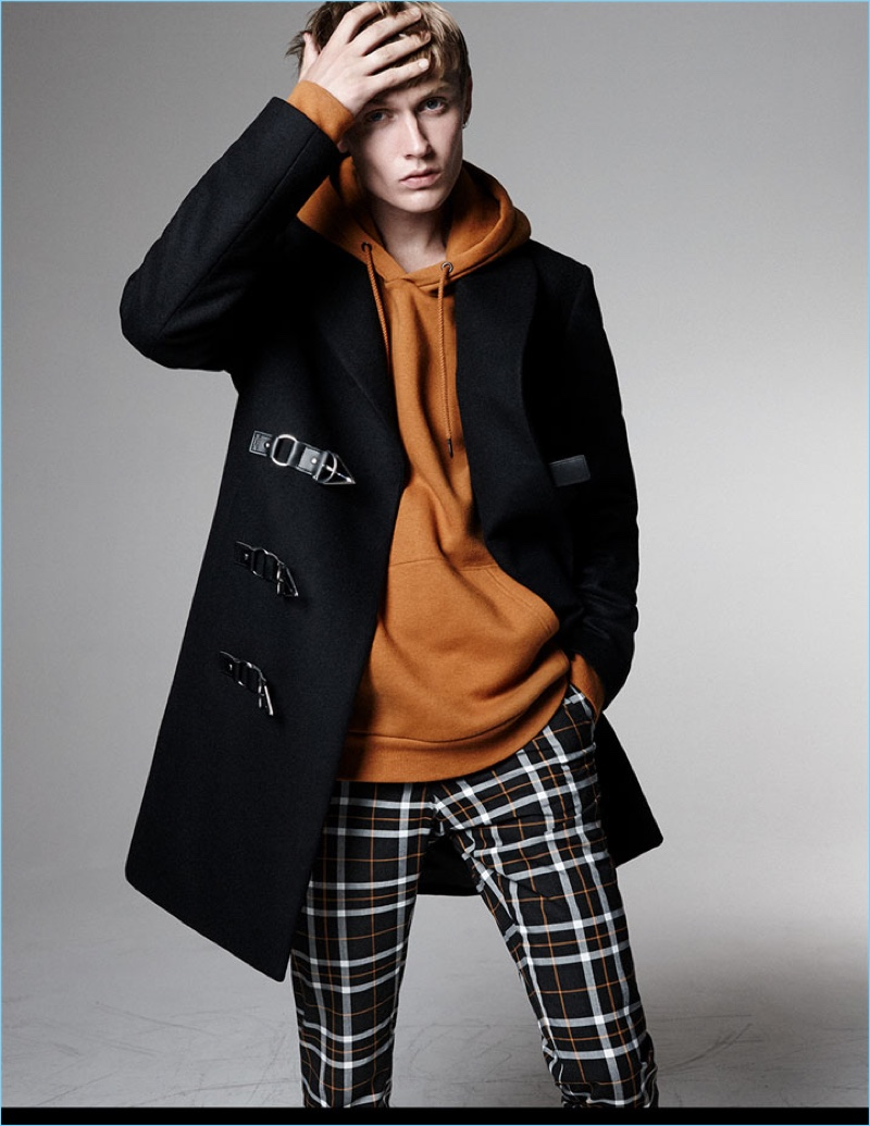 The Overcoat: Zara looks to 1990 London for classic inspiration, delivering the overcoat with buckle-clad dufflecoat.