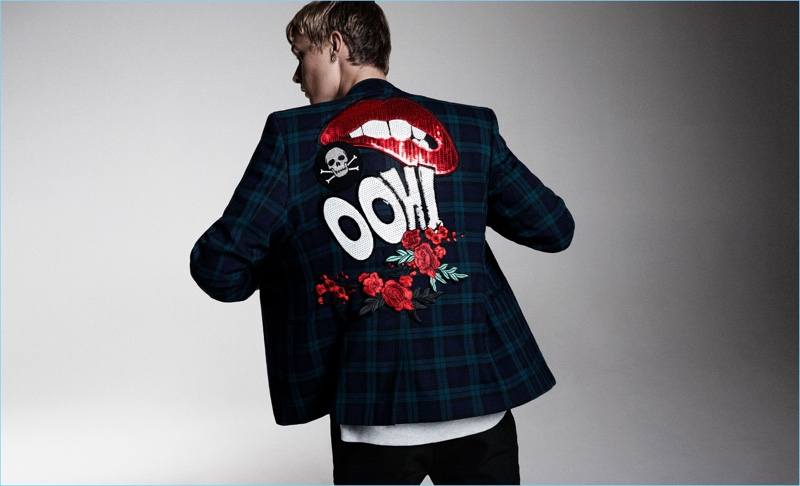 Statement Jacket: Channel 1987 Tokyo with this embellished plaid blazer from Zara Man.