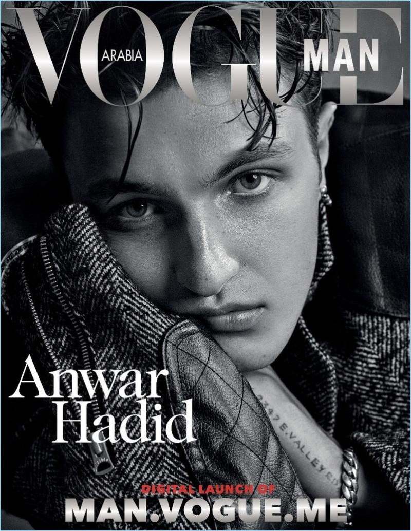 Anwar Hadid Vogue Man Arabia 2017 Cover