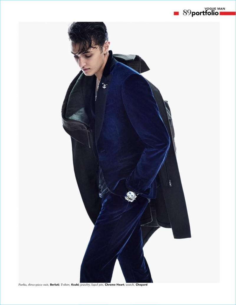 Anwar Hadid Covers Vogue Man Arabia Launch