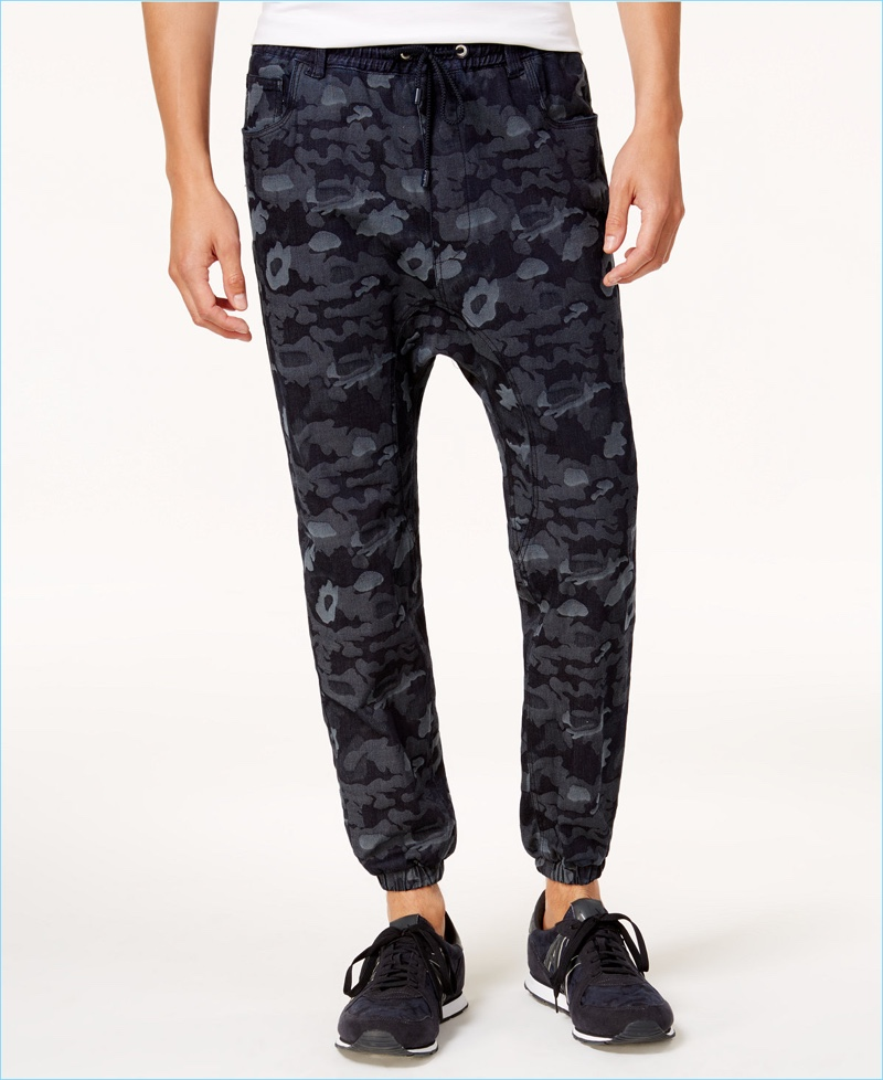 Armani Exchange Men's Camo Jogger Pants