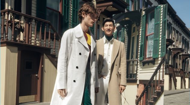 Models Jakub Pastor and Sup Park stars in Barneys' fall-winter 2017 campaign.