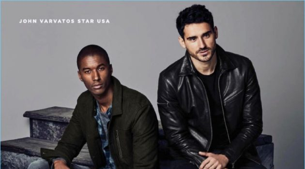 Claudio Monteiro and Arthur Kulkov wear John Varvatos Star USA.