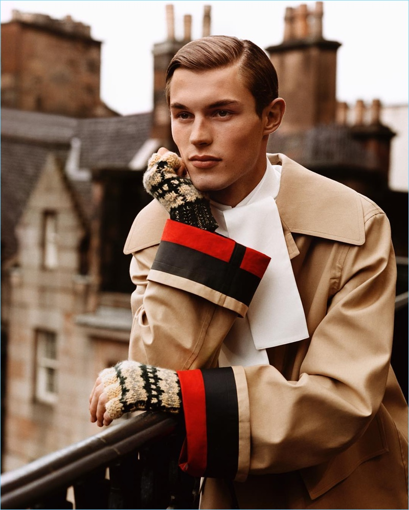 Kit Butler stars in Burberry's fall-winter 2017 campaign.